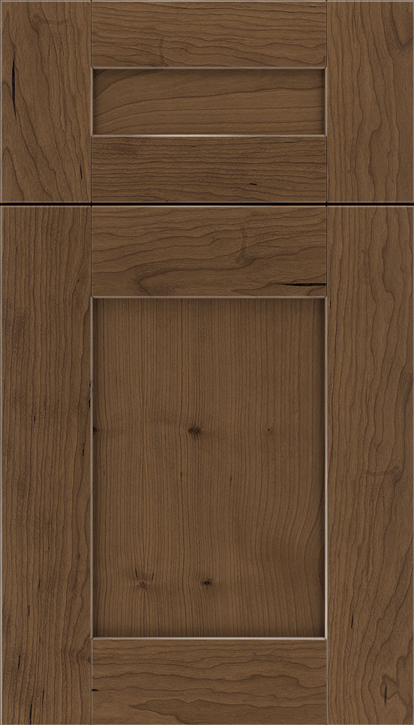 Pearson 5pc Cherry flat panel cabinet door in Toffee