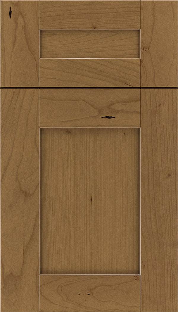 Pearson 5pc Cherry flat panel cabinet door in Tuscan