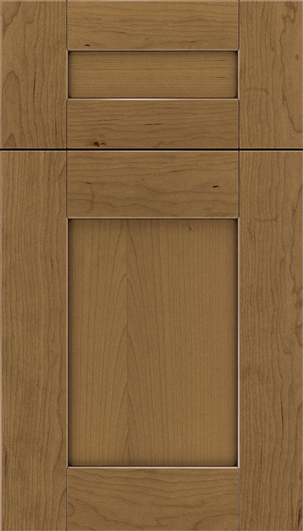 Pearson 5pc Cherry flat panel cabinet door in Tuscan with Mocha glaze