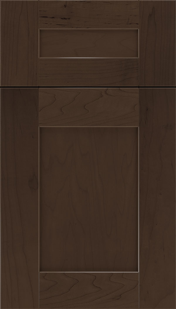 Pearson 5pc Maple flat panel cabinet door in Cappuccino