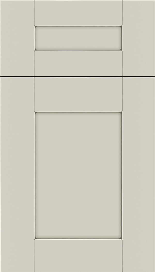 Pearson 5pc Maple flat panel cabinet door in Cirrus with Pewter glaze