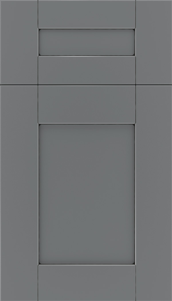Pearson 5pc Maple flat panel cabinet door in Cloudburst with Black glaze