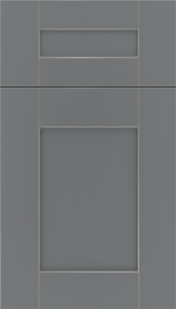 Pearson 5pc Maple flat panel cabinet door in Cloudburst with Pewter glaze