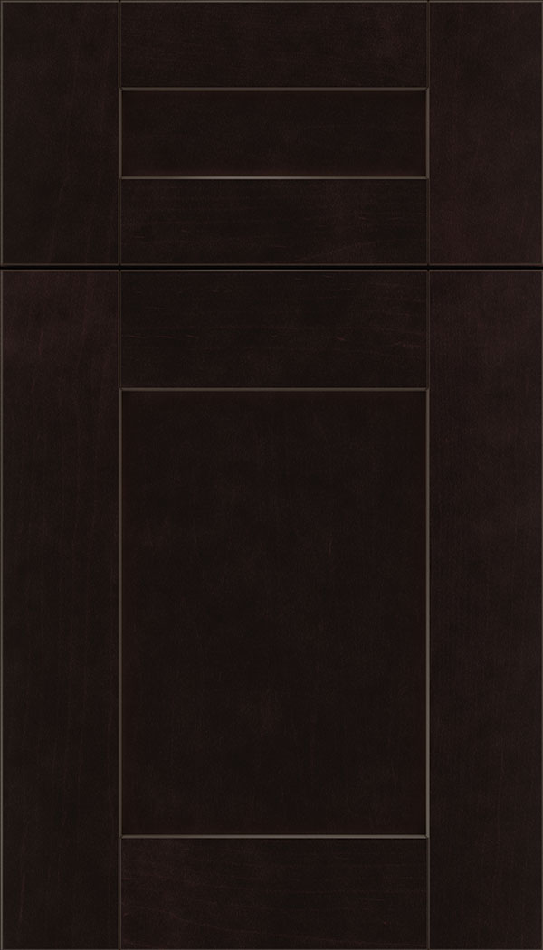 Pearson 5pc Maple flat panel cabinet door in Espresso