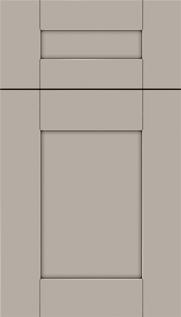 Pearson 5pc Maple flat panel cabinet door in Nimbus with Pewter glaze