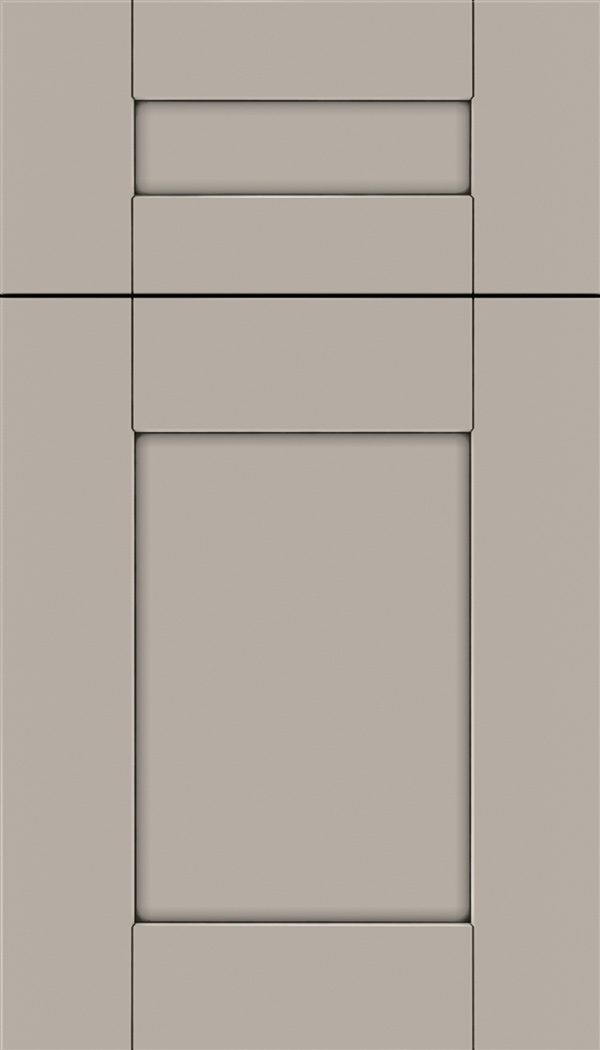 Pearson 5pc Maple flat panel cabinet door in Nimbus with Smoke glaze