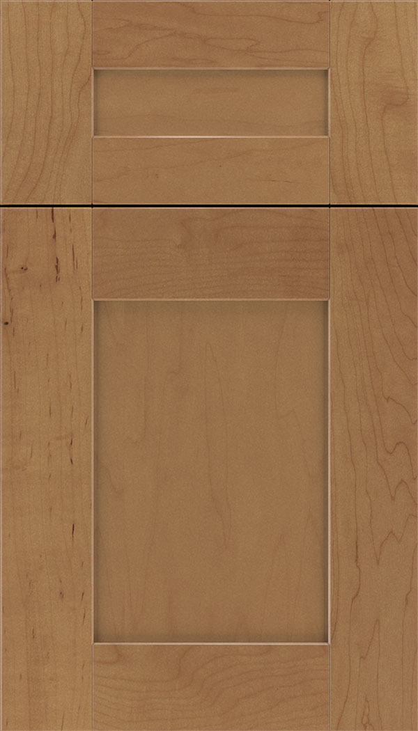 Pearson 5pc Maple flat panel cabinet door in Nutmeg