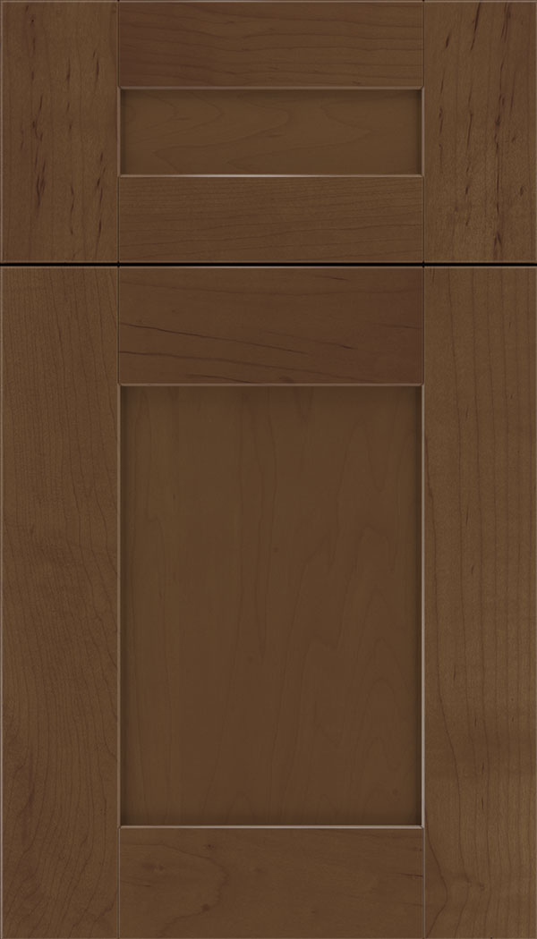 Pearson 5pc Maple flat panel cabinet door in Sienna