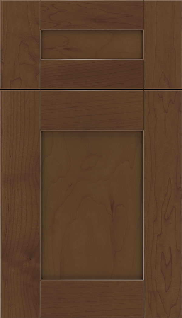 Pearson 5pc Maple flat panel cabinet door in Sienna with Mocha glaze