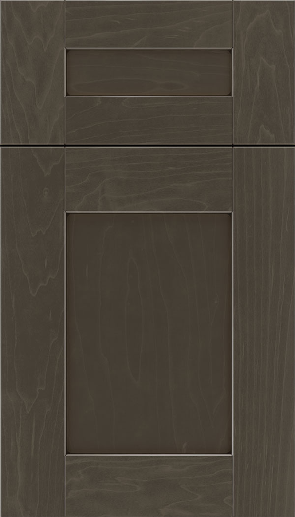 Pearson 5pc Maple flat panel cabinet door in Thunder with Black glaze