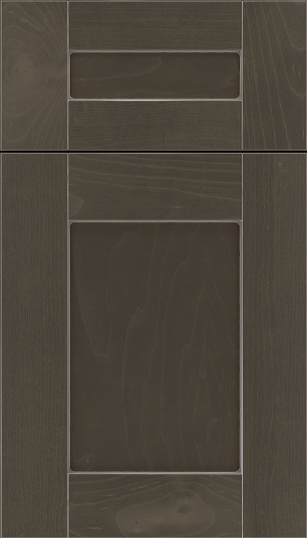 Pearson 5pc Maple flat panel cabinet door in Thunder with Pewter glaze