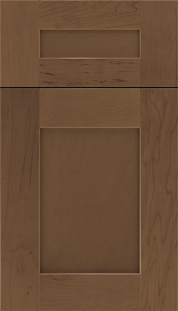Pearson 5pc Maple flat panel cabinet door in Toffee