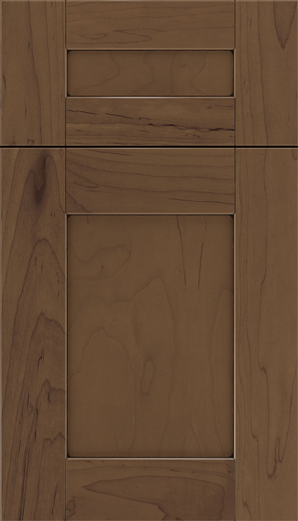 Pearson 5pc Maple flat panel cabinet door in Toffee with Black glaze