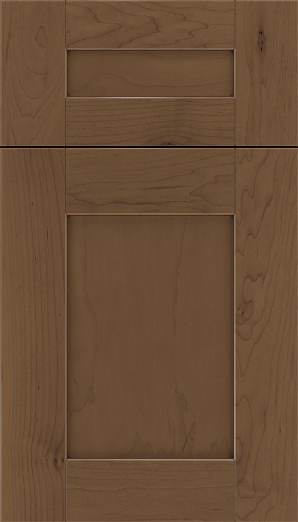 Pearson 5pc Maple flat panel cabinet door in Toffee with Mocha glaze