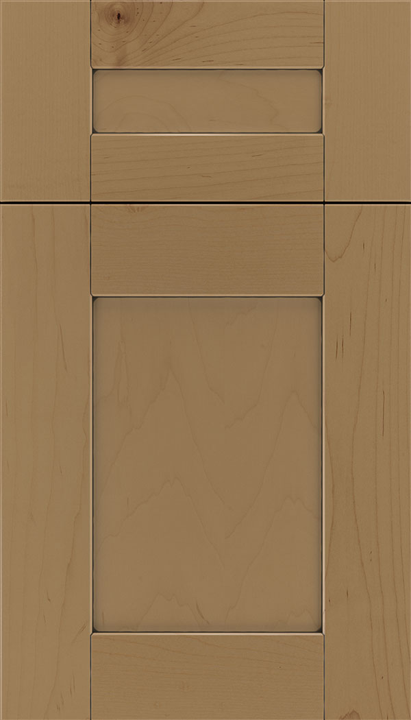 Pearson 5pc Maple flat panel cabinet door in Tuscan with Black glaze