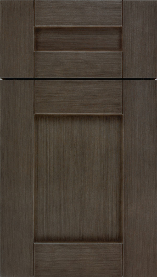 Pearson 5pc Maple flat panel cabinet door in Weathered Slate