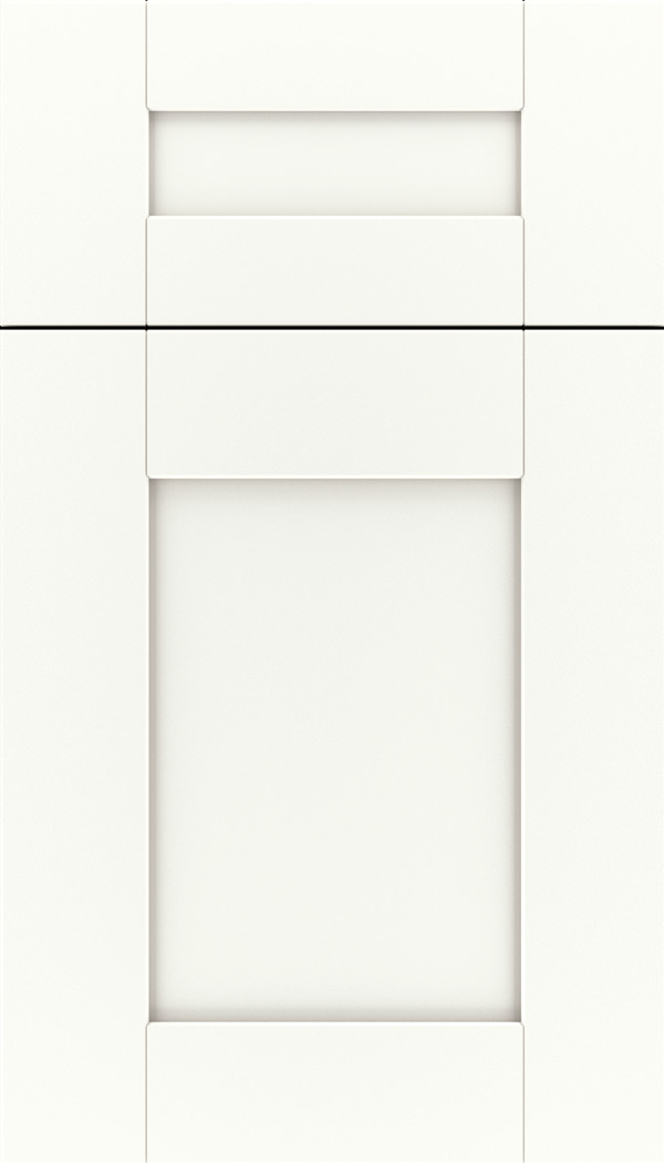 Pearson 5pc Maple flat panel cabinet door in Whitecap