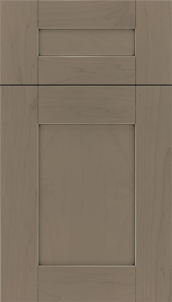 Pearson 5pc Maple flat panel cabinet door in Winter with Black glaze