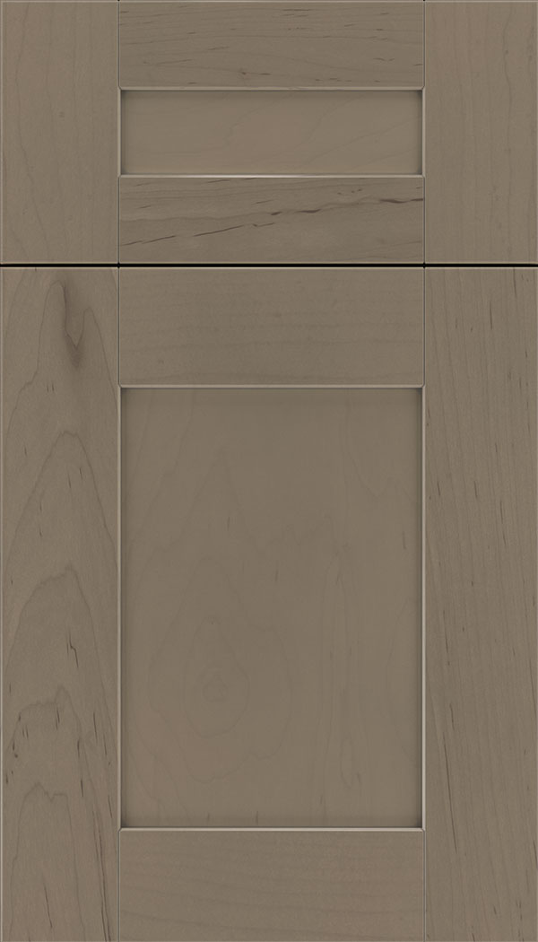 Pearson 5pc Maple flat panel cabinet door in Winter with Pewter glaze