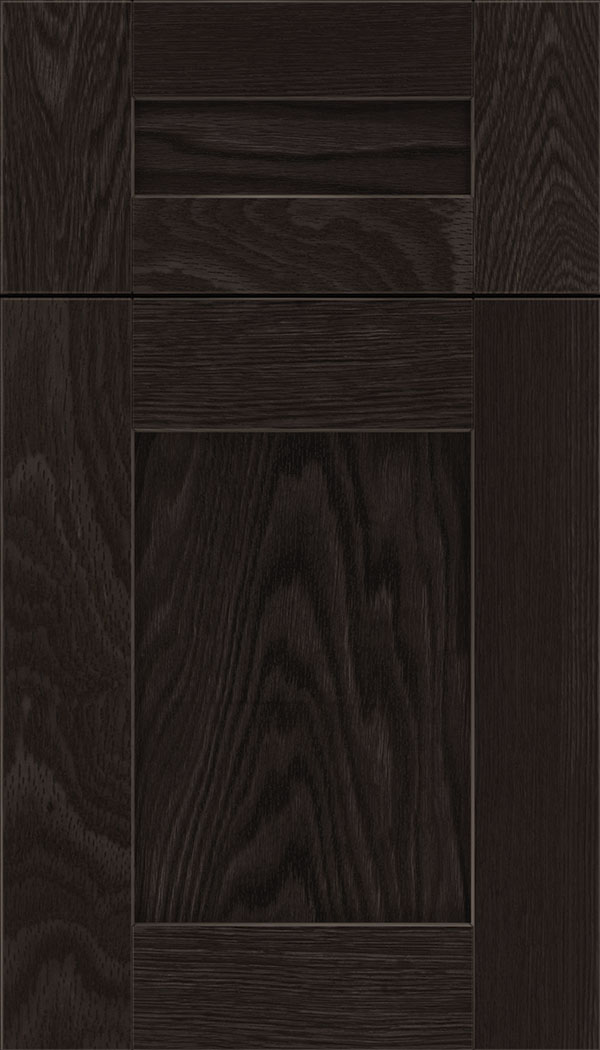 Pearson 5pc Oak flat panel cabinet door in Charcoal