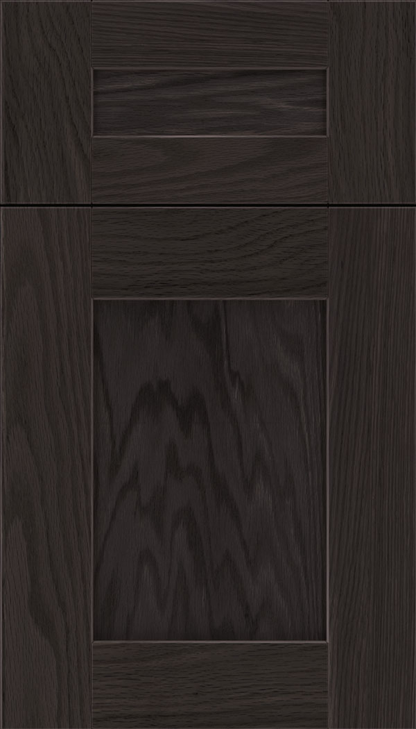 Pearson 5pc Oak flat panel cabinet door in Espresso