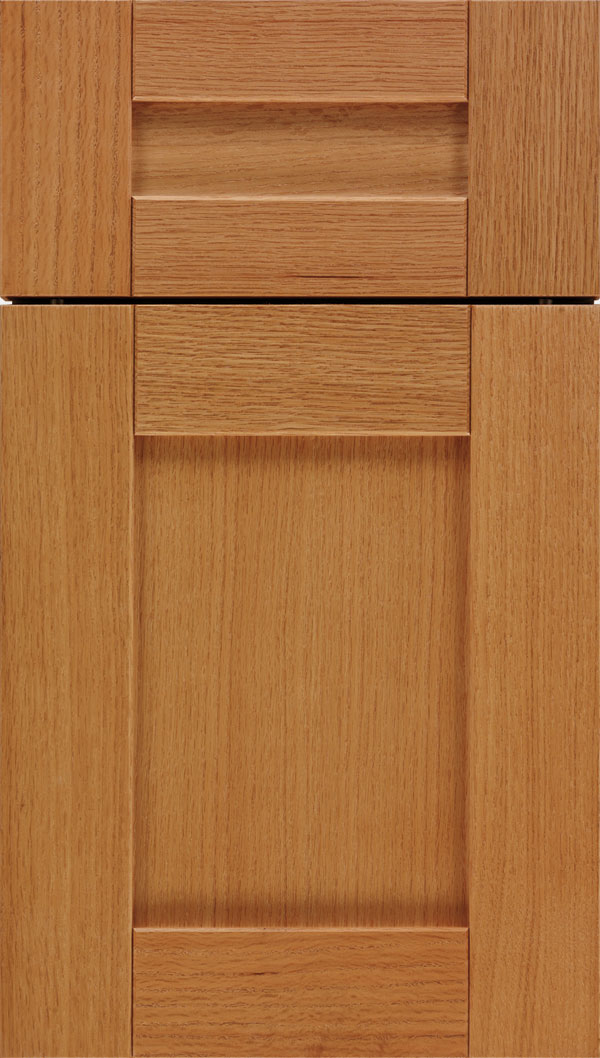 Pearson 5pc Oak flat panel cabinet door in Ginger