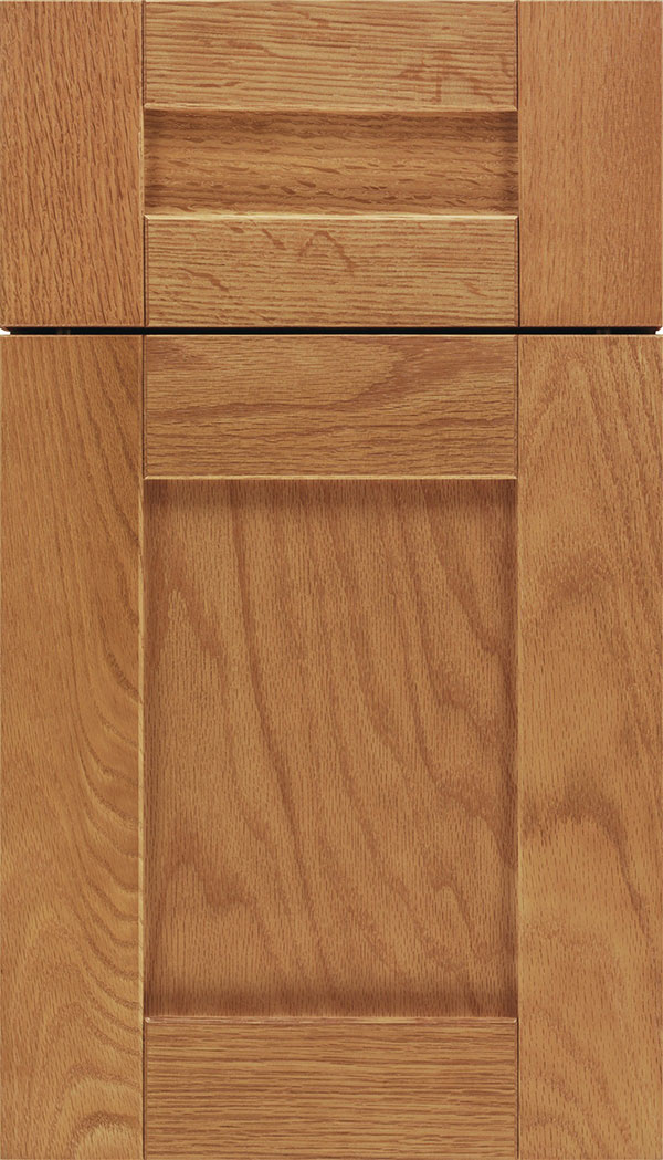 Pearson 5pc Oak flat panel cabinet door in Spice