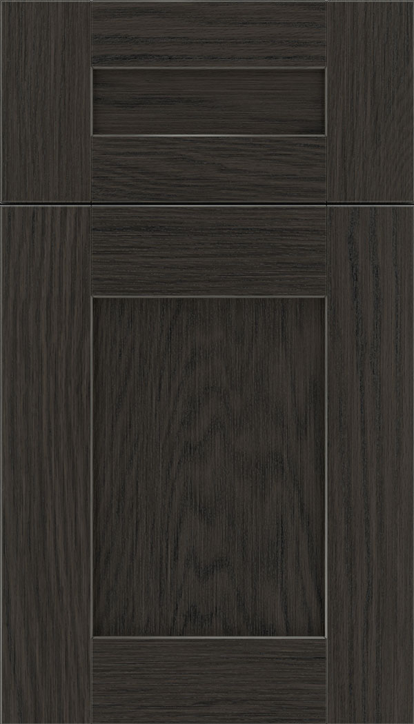 Pearson 5pc Oak flat panel cabinet door in Weathered Slate