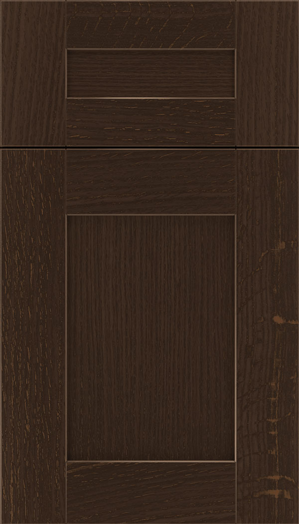 Pearson 5pc Rift Oak flat panel cabinet door in Cappuccino