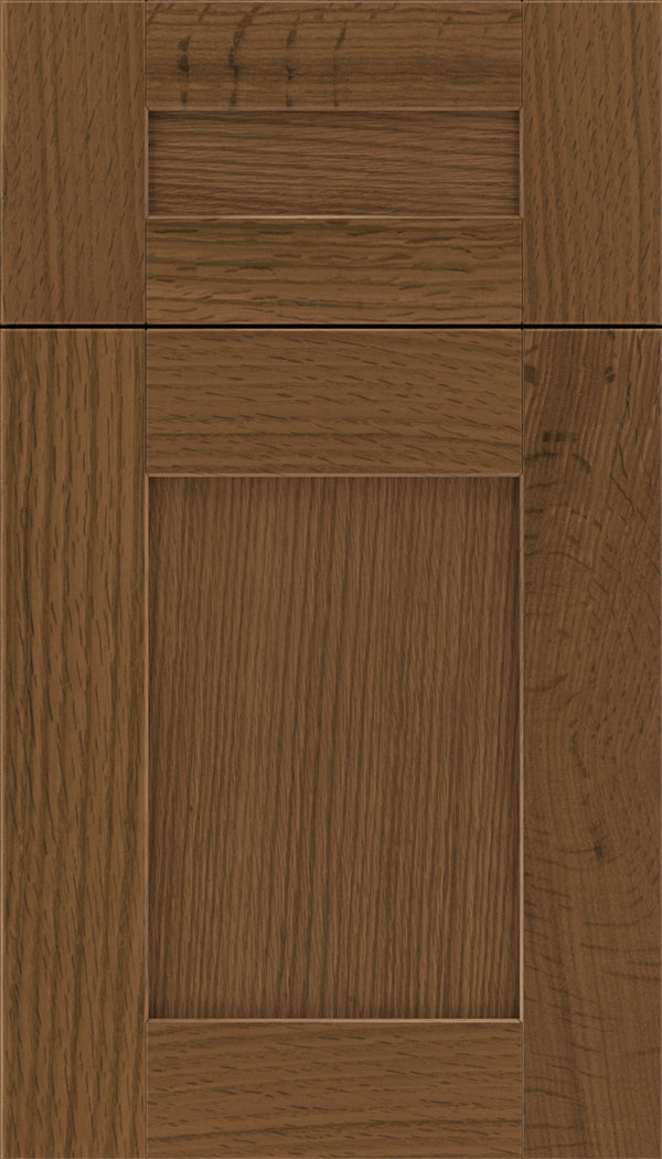 Pearson 5pc Rift Oak flat panel cabinet door in Sienna