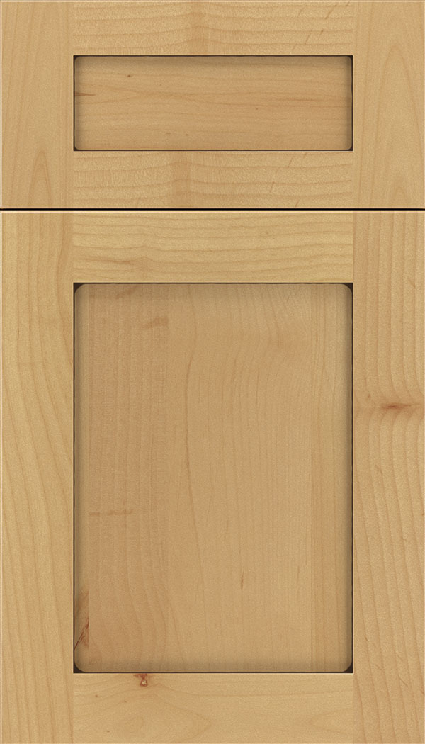 Plymouth 5pc Alder shaker cabinet door in Natural with Mocha glaze