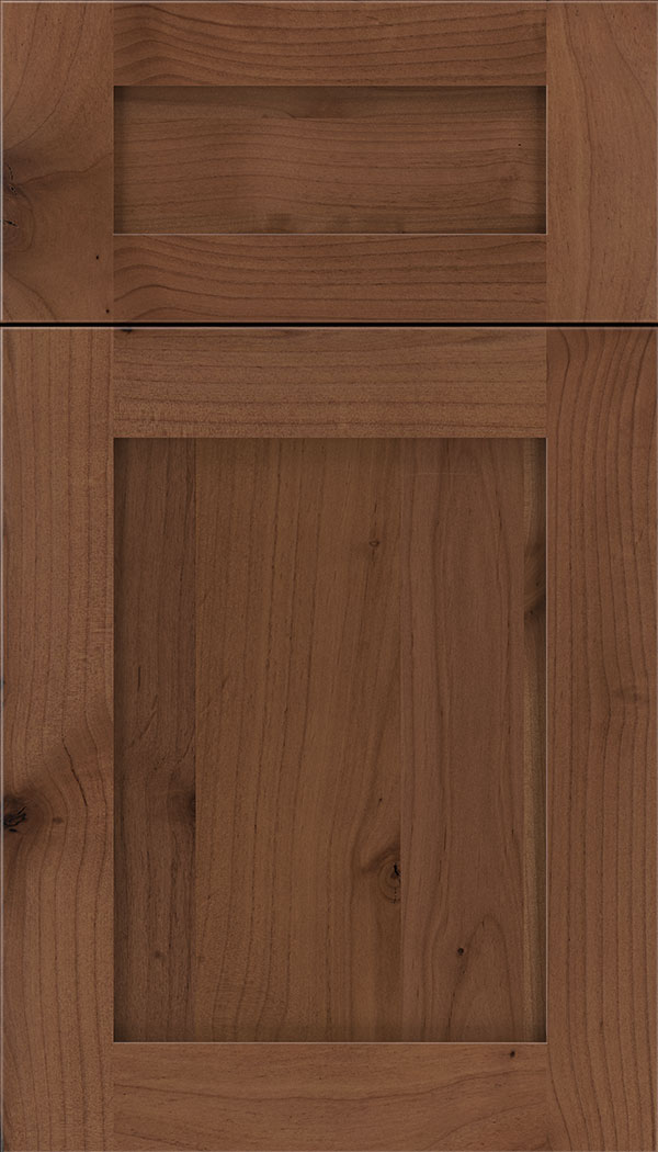 Plymouth 5pc Alder shaker cabinet door in Nutmeg