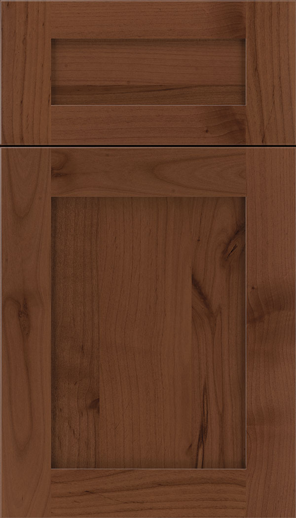 Plymouth 5pc Alder shaker cabinet door in Russet