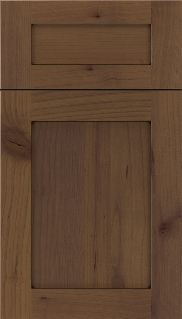 Plymouth 5pc Alder shaker cabinet door in Sienna with Black glaze