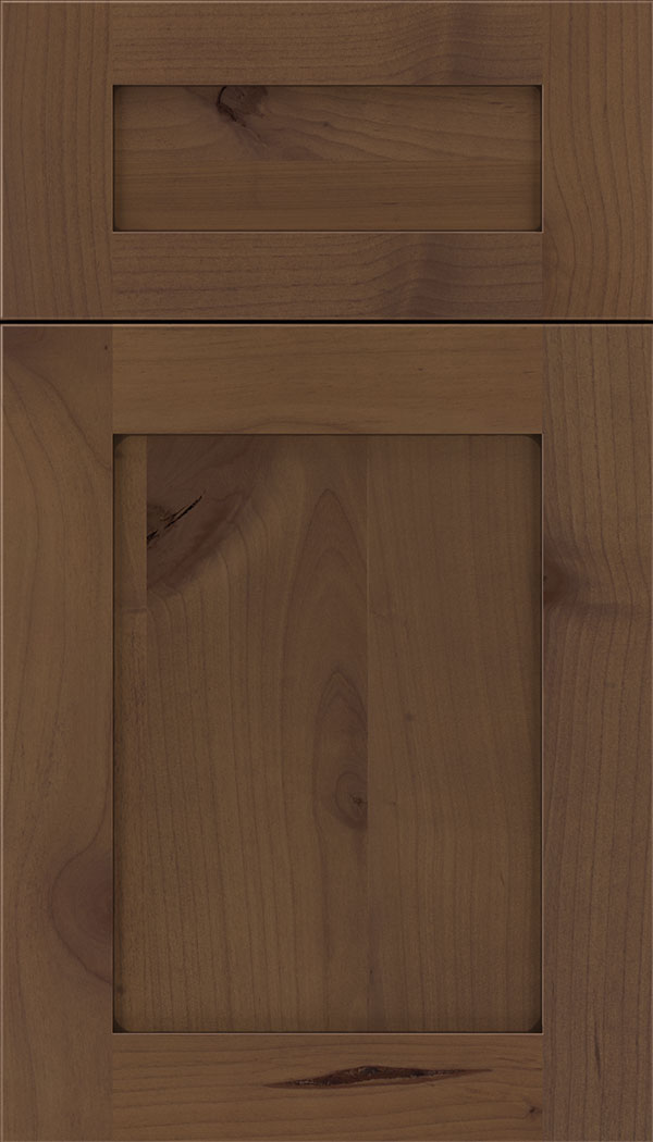 Plymouth 5pc Alder shaker cabinet door in Sienna with Mocha glaze