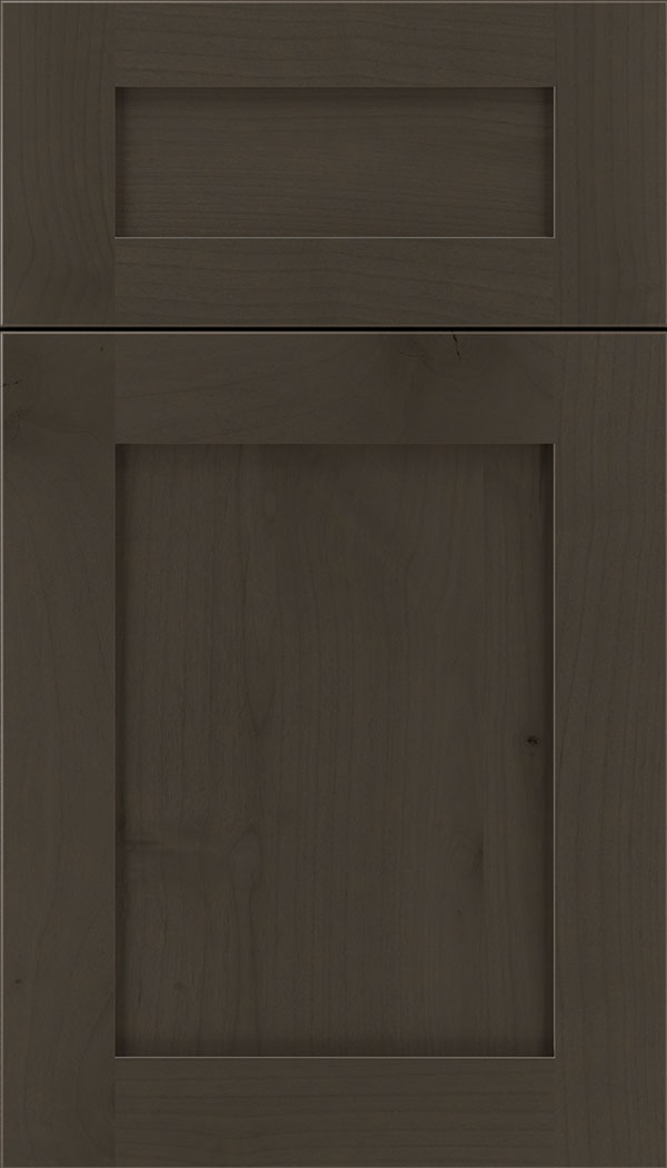 Plymouth 5pc Alder shaker cabinet door in Thunder