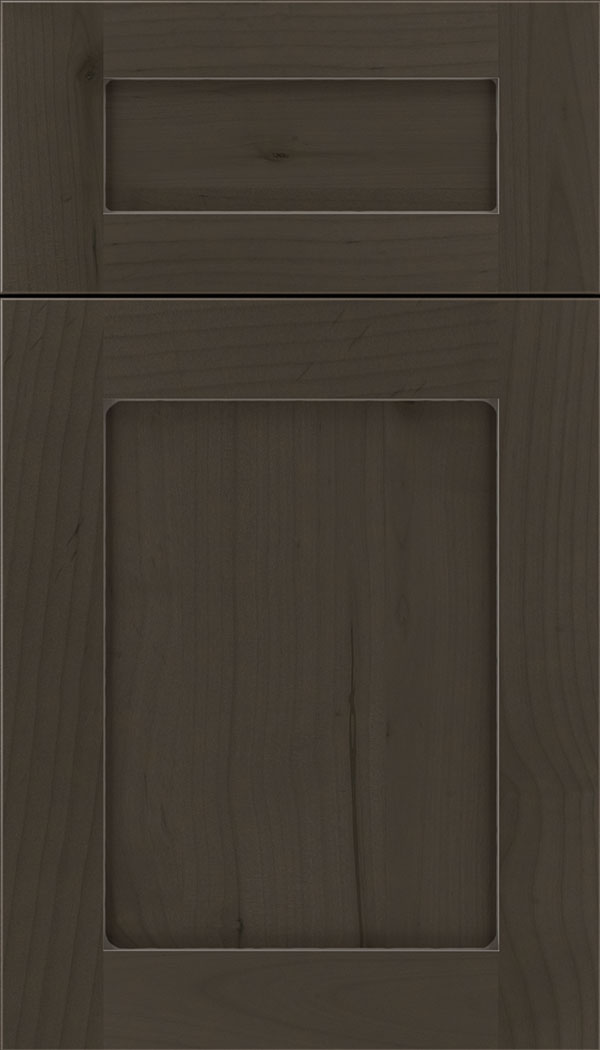 Plymouth 5pc Alder shaker cabinet door in Thunder with Pewter glaze