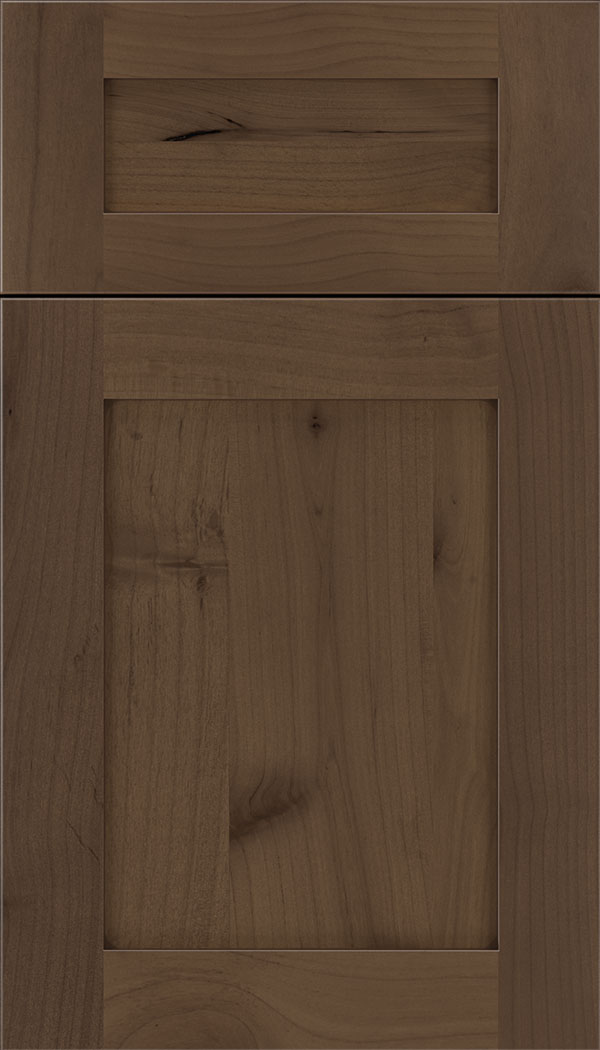 Plymouth 5pc Alder shaker cabinet door in Toffee with Mocha glaze