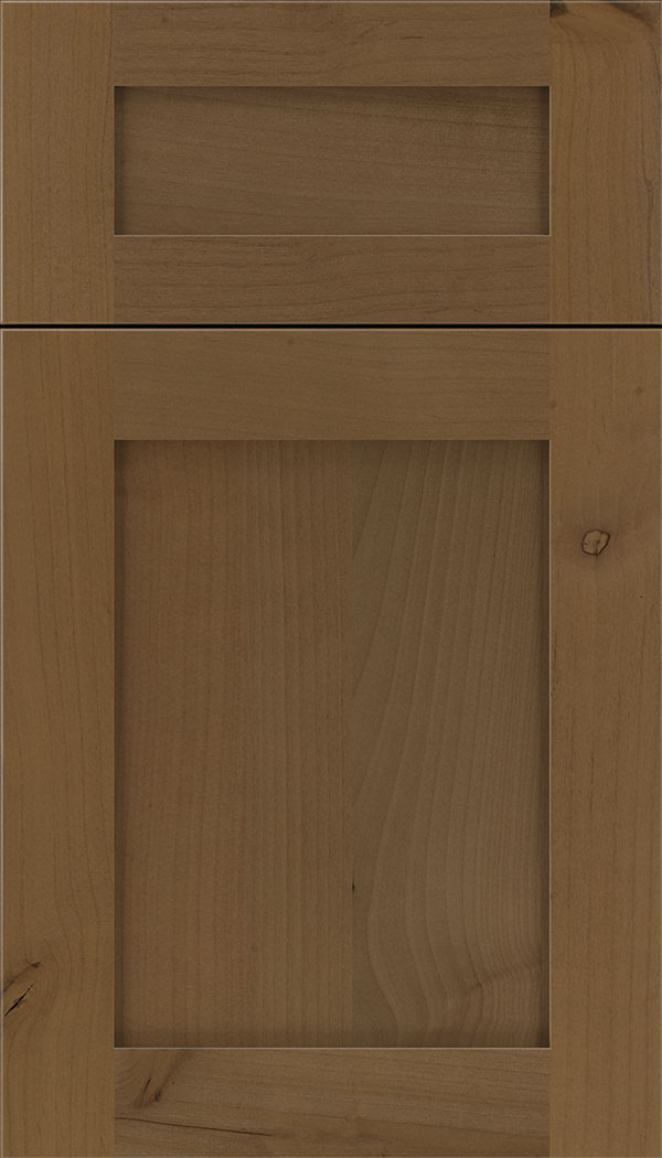 Plymouth 5pc Alder shaker cabinet door in Tuscan