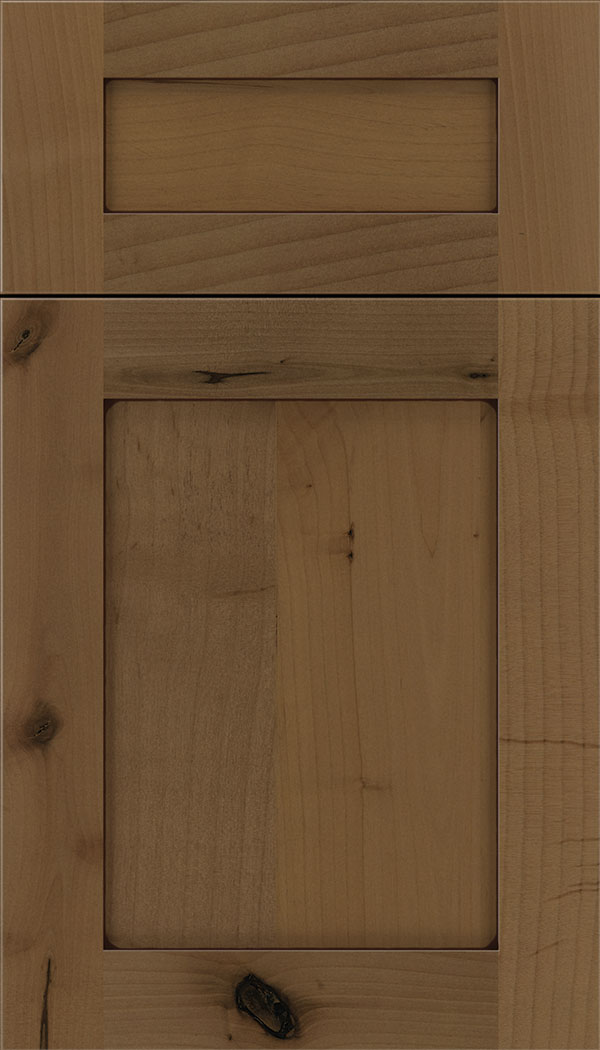 Plymouth 5pc Alder shaker cabinet door in Tuscan with Mocha glaze