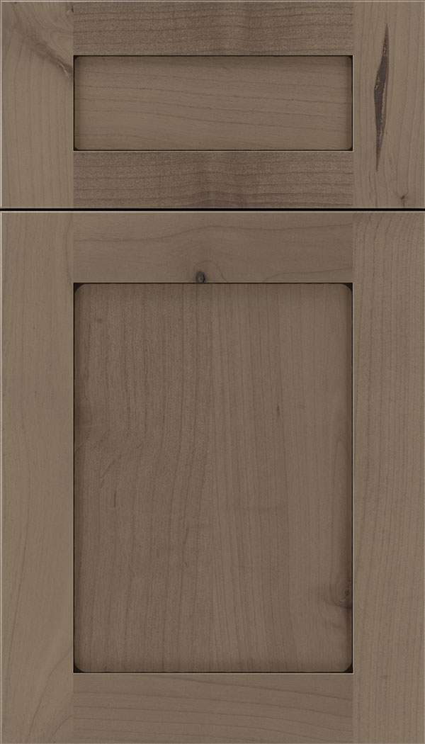 Plymouth 5pc Alder shaker cabinet door in Winter with Black glaze