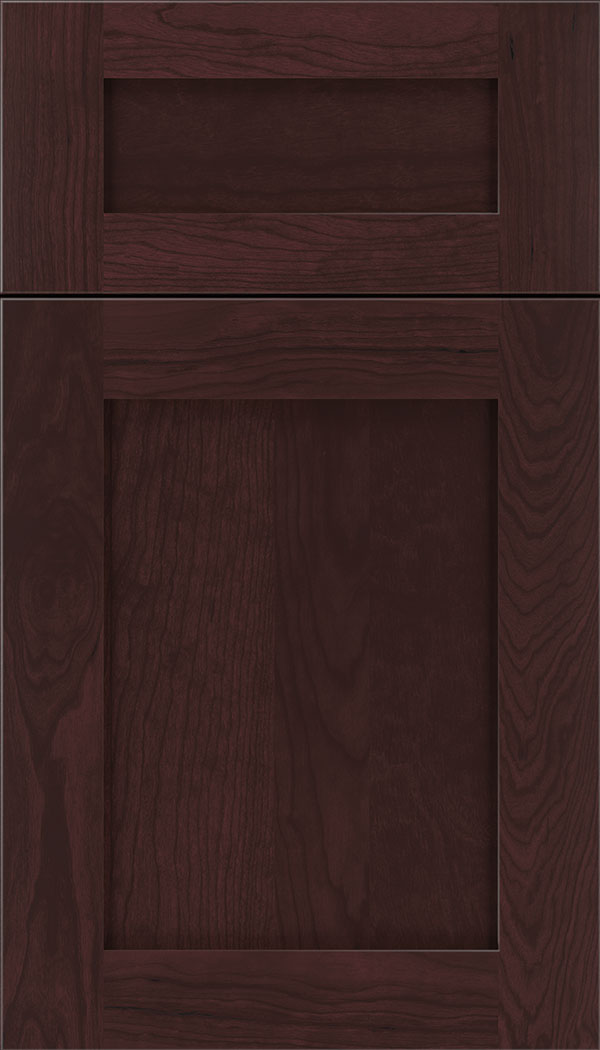 Plymouth 5pc Cherry shaker cabinet door in Bordeaux