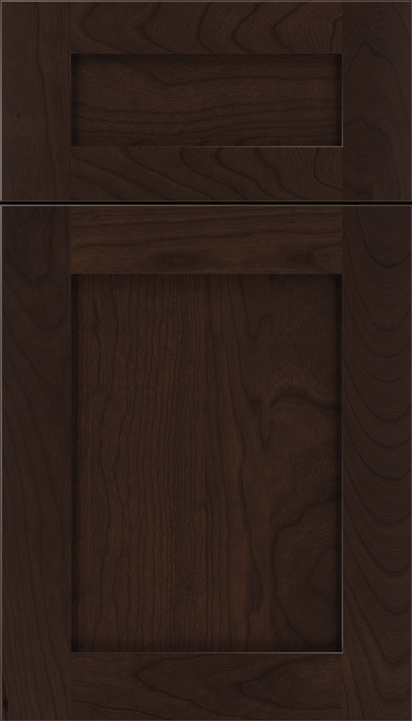 Plymouth 5pc Cherry shaker cabinet door in Cappuccino