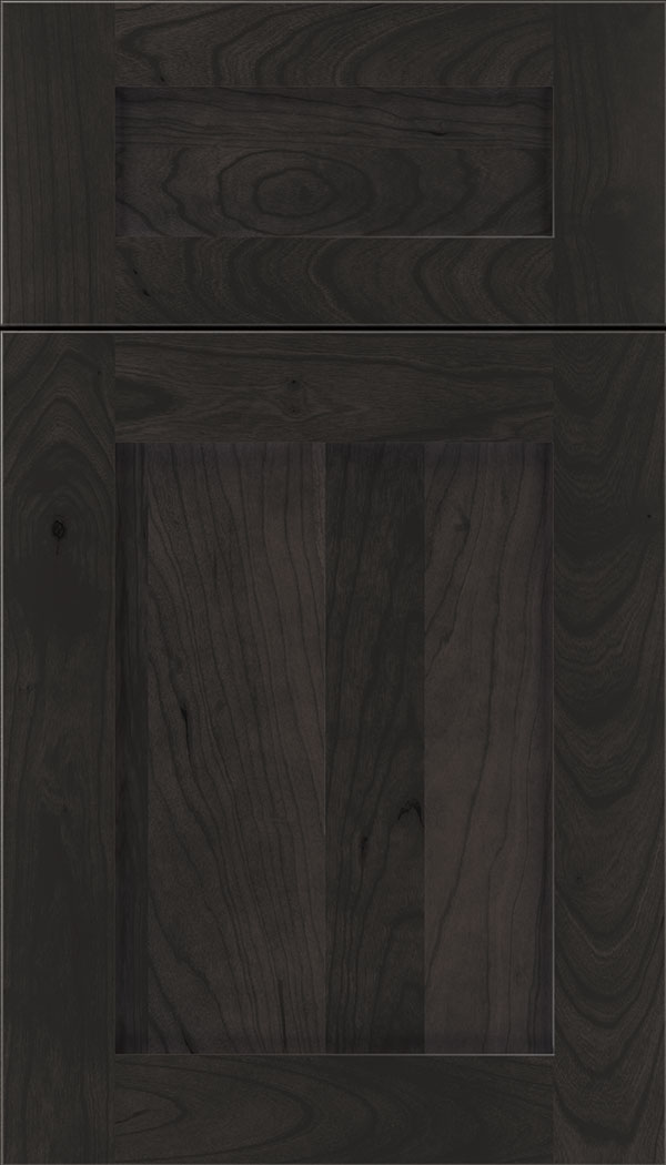 Plymouth 5pc Cherry shaker cabinet door in Charcoal