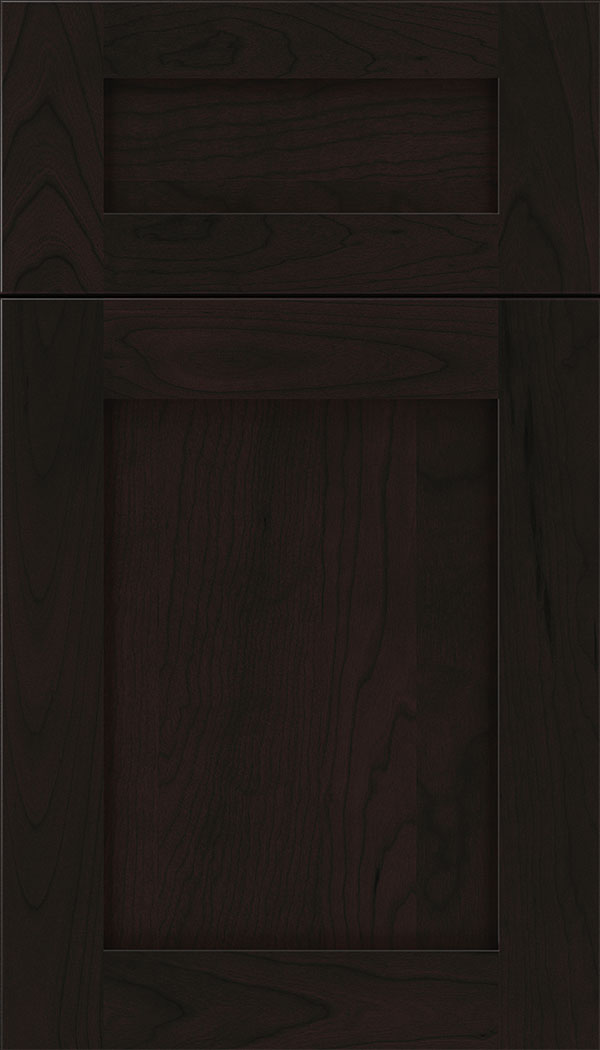 Plymouth 5pc Cherry shaker cabinet door in Espresso