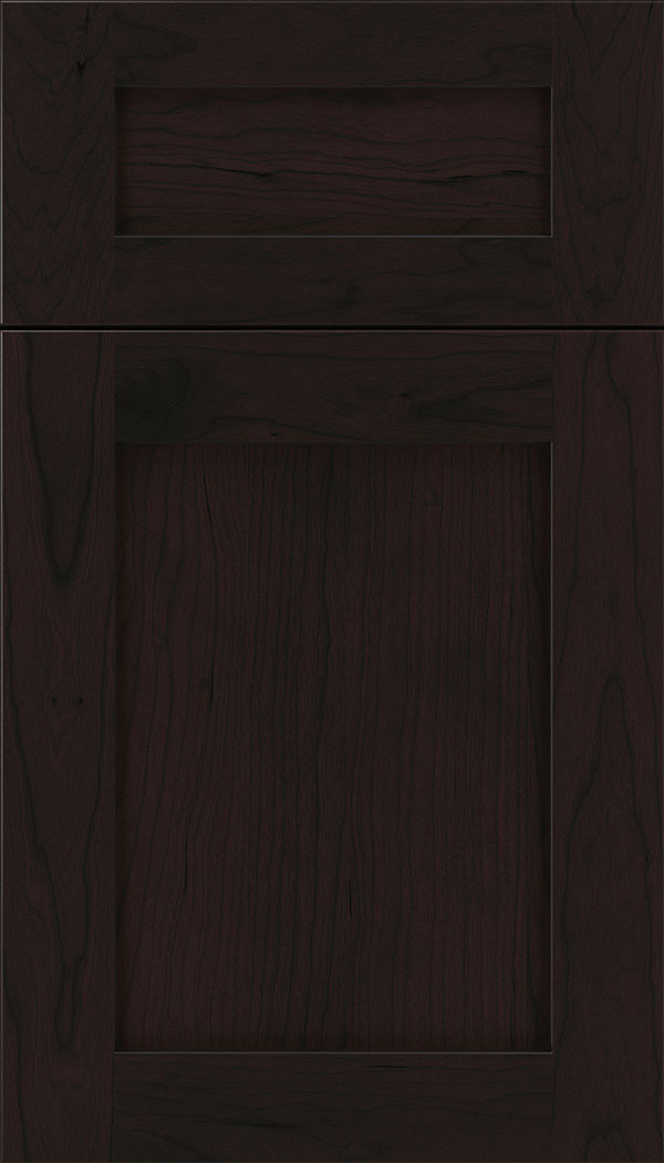 Plymouth 5pc Cherry shaker cabinet door in Espresso with Black glaze