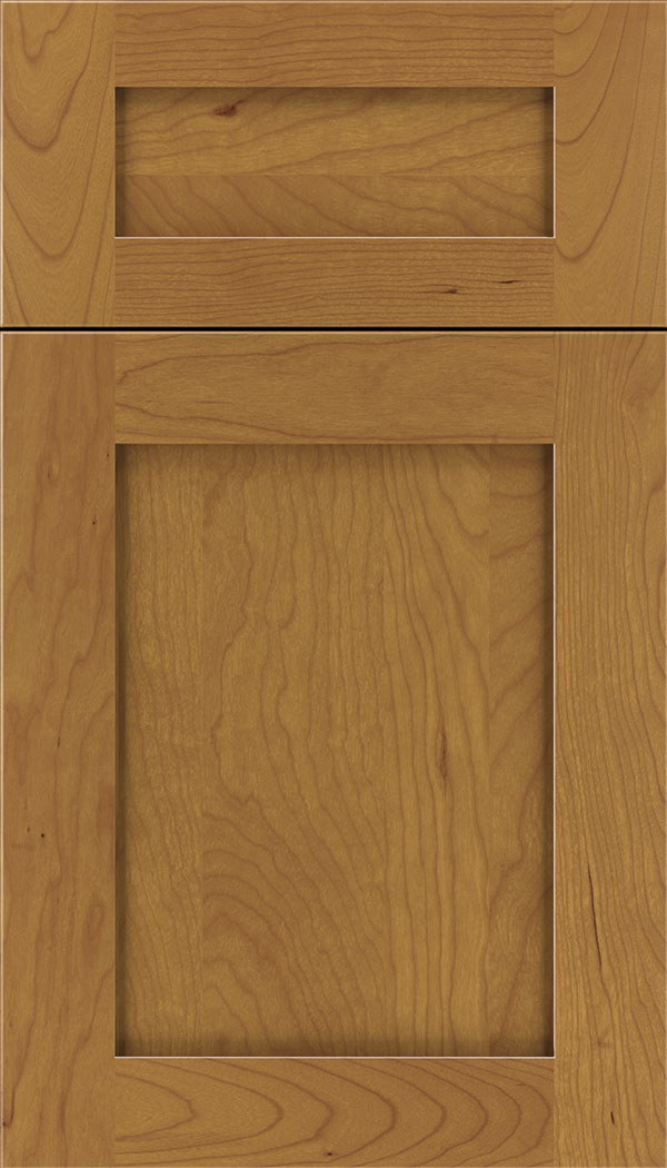 Plymouth 5pc Cherry shaker cabinet door in Ginger