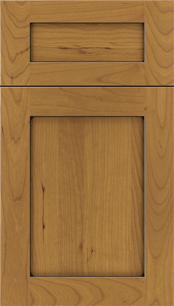 Plymouth 5pc Cherry shaker cabinet door in Ginger with Black glaze