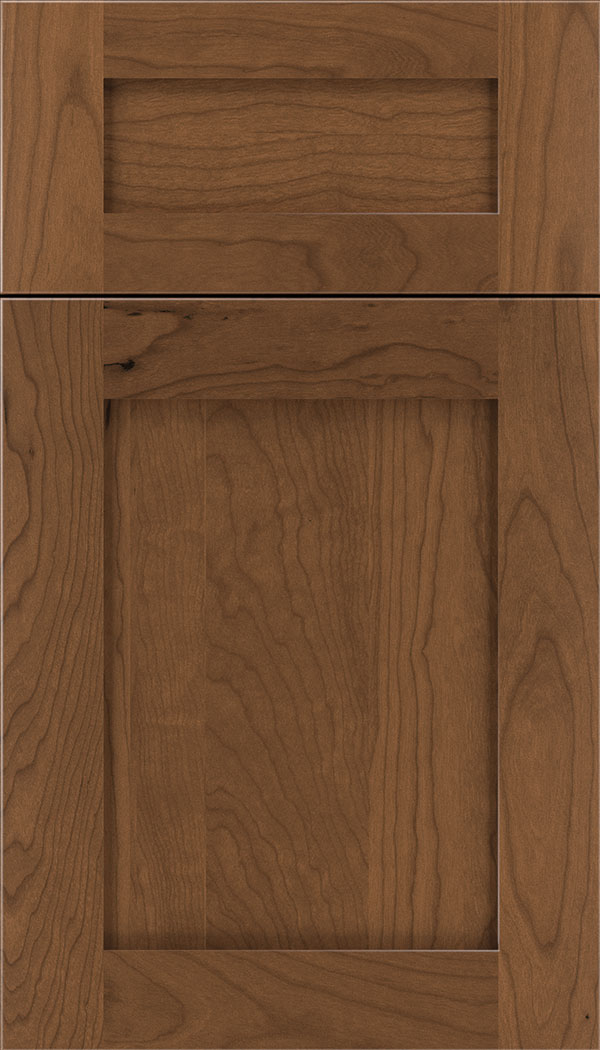 Plymouth 5pc Cherry shaker cabinet door in Nutmeg