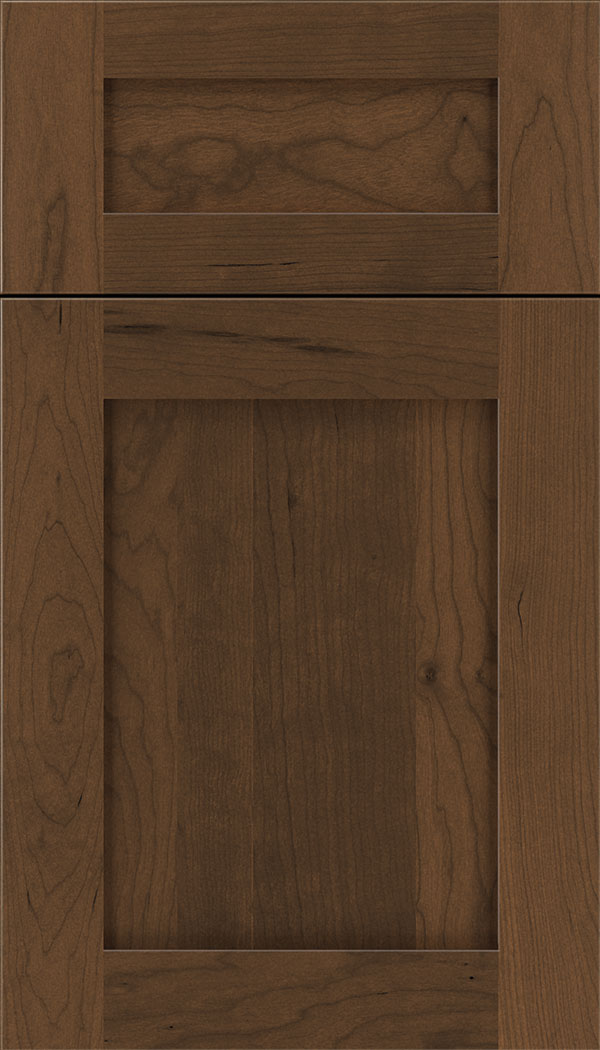 Plymouth 5pc Cherry shaker cabinet door in Sienna